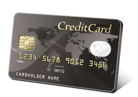 Golden credit card. Payment concept. Vector