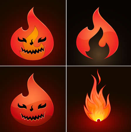 Collection of fire icons. Vector Illustration Stock Vector - 12483463