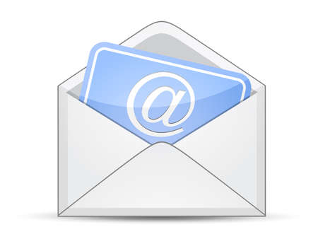 Open envelope with card and e-mail sign Vector