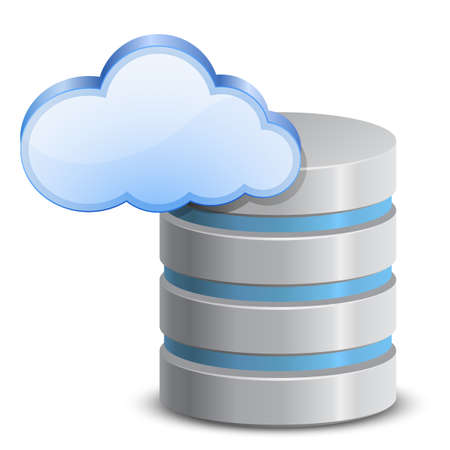 hard disk drive: Online Backup Service cloud backup di rete Vettoriali