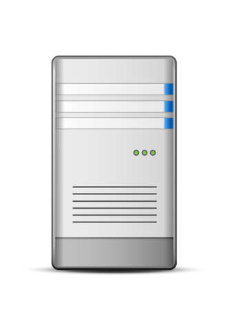 telecommunication tower: Computer Server Icon illustration