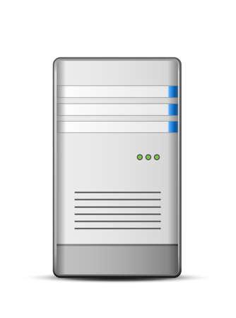 computer tower: Computer Server Icon illustration