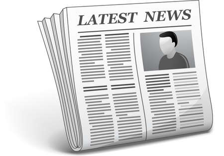 latest news: Latest news  Vector illustration of newspaper