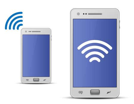 red lan: Concepto de ilustraci�n vectorial Wireless