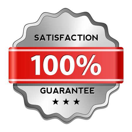 guarantee seal: Satisfaction guarantee sign