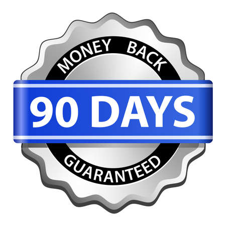 money back: 90 days money back guarantee sign  Vector illustration
