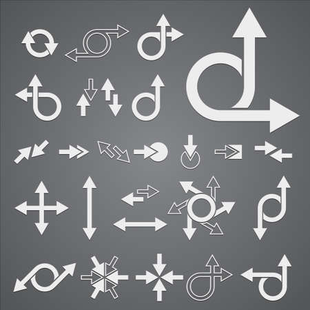 Arrow Signs Collection  Vector illustration Stock Vector - 13827146