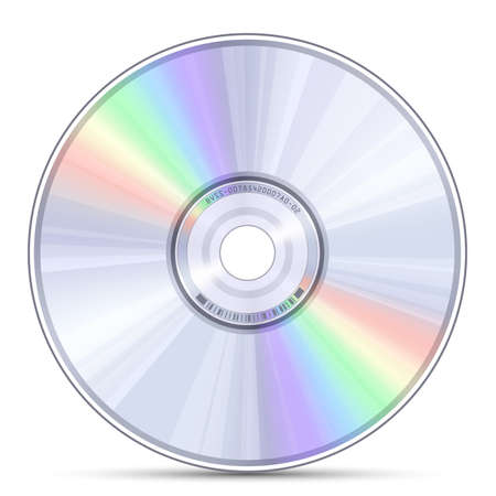 Blue-ray, DVD or CD disc Vector