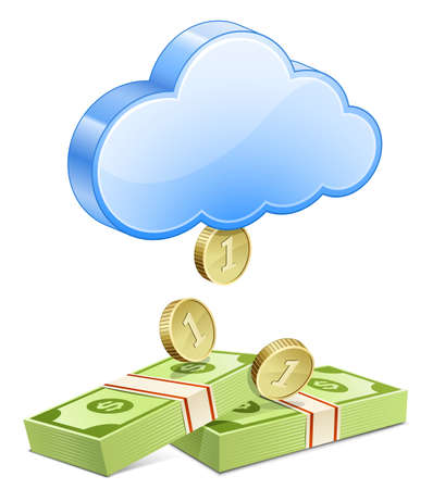 Affiliate marketing concept  Making money from the cloud