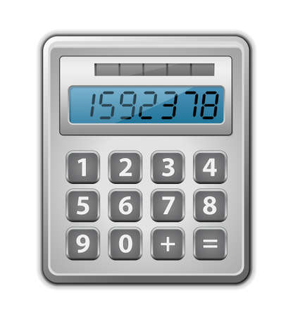 Metallic office calculator  illustration Vector