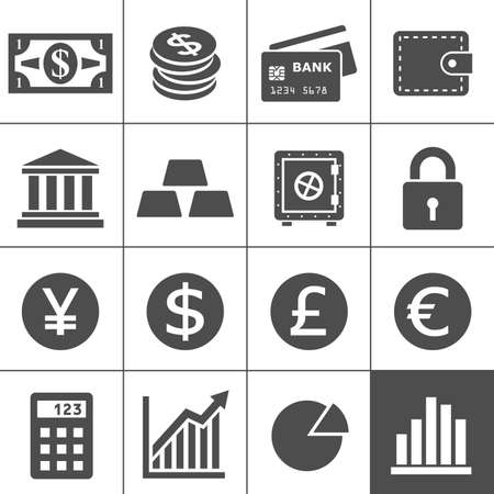 Finance Icons Stock Illustratie