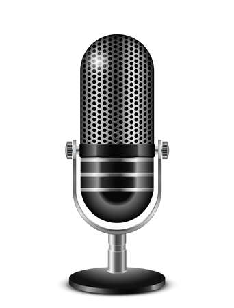 Vector illustration of retro microphone Vector