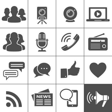 social network: Media  Illustration
