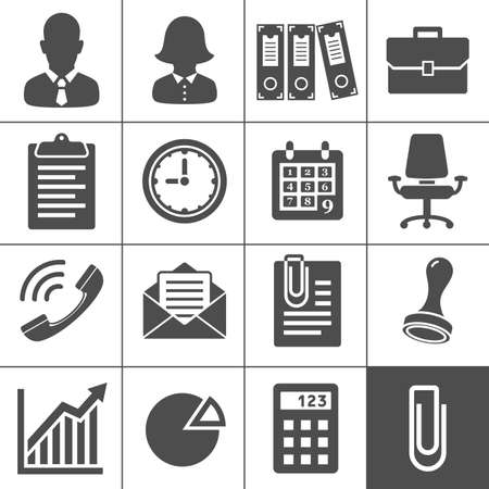 Office Icons  Simplus series  Each icon is a single object  compound path