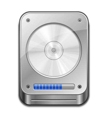 ハード ディスク ドライブの HDD アイコンの図