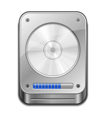 computer memory: HDD Icon illustration of Hard Disk Drive