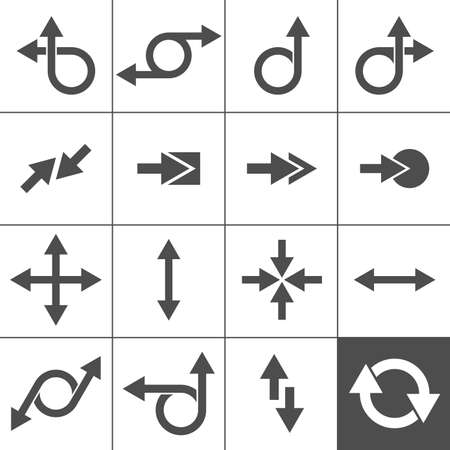 vanish: 16 Arrow Icons  Arrow Signs Collection  Simplus series illustration
