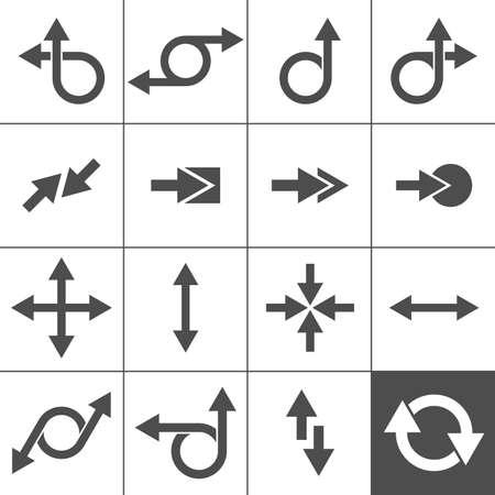 flechas curvas: 16 Flecha Icono Flecha Signos ilustración Colección series Simplus