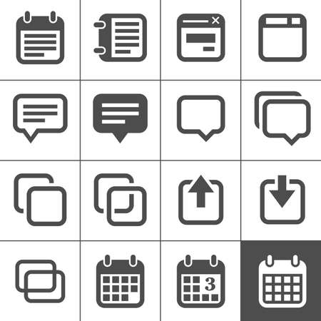 calendar: Notes and Memos Icons  Simplus series  Each icon is a single object  compound path  Illustration