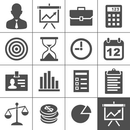 financial targets: Business Icons  Vector illustration  Simplus series Illustration