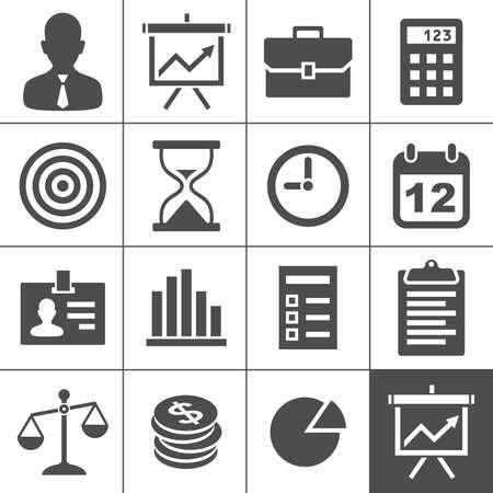 zeitplan: Business Icons Vektor-Illustration Simplus Serie