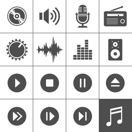 microfono radio: M�sica y sonido iconos Vectores