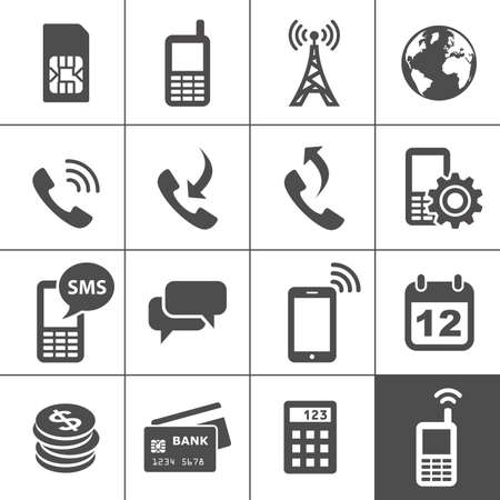 call card: Mobile account management icons  Simplus series