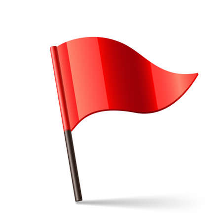 triangular banner: illustration of red triangular flag