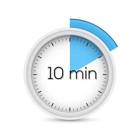 timer icon: Ten minutes stopwatch timer  illustration  Illustration