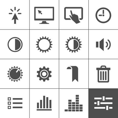 trackpad: Settings icon set  Control icons  Vector illustration  Simplus series Stock Photo