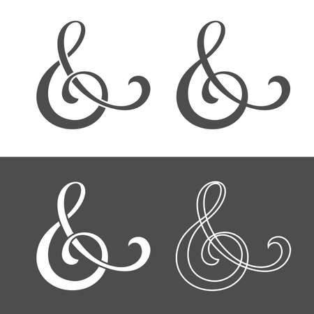 ampersand: Custom ampersand for wedding invitation