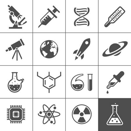 Research icon set. Simplus series. Vector illustration Vector