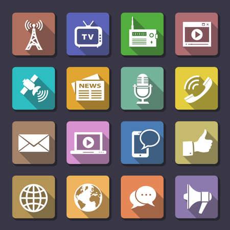 Media Iconen. Flaticons series. Vector iconen