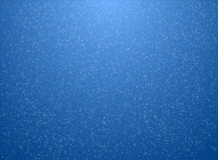 크리스마스 카드 템플릿입니다. 눈송이와 파란색 배경