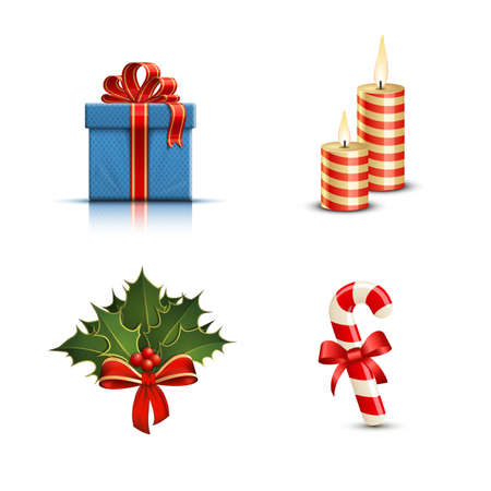 Highly detailed Christmas icons. Vector illustration Vector