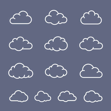 cloud shape: Cloud shape collection. Cloud icons