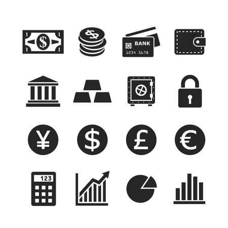 Finance icon set. Raster version photo