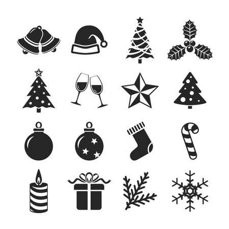 hollyberry: Christmas icons set. Raster version