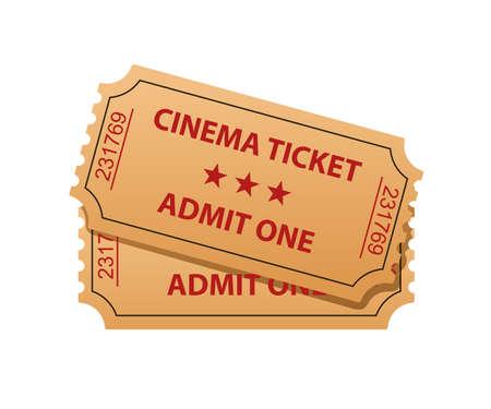 admit: Cinema tickets. Admit one illustration Illustration