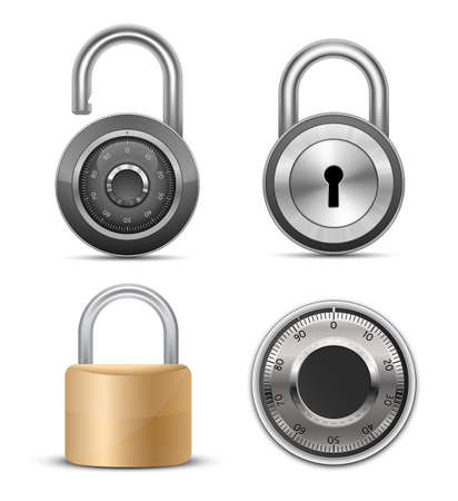 Locks & padlocks collection. Vector illustration