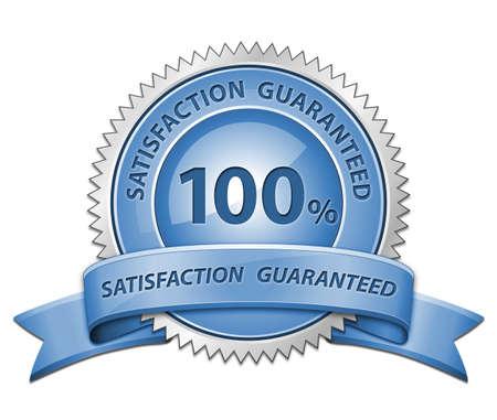 100% Satisfaction Guaranteed Sign. Raster version photo