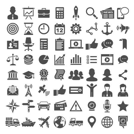 Universal Icons. Business, financial and social icons. Simplus series Vector