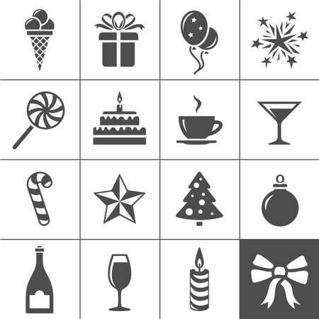 simplus: Vacaciones y iconos de evento. Serie Simplus. Ilustraci�n vectorial