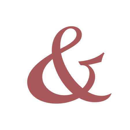 ligature: Custom ampersand. Hand drawn ampersand symbol for wedding invitation.  Illustration