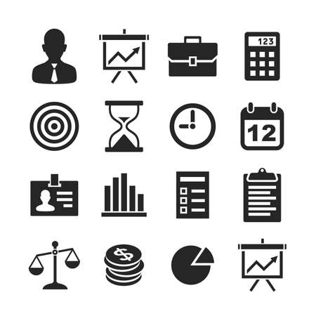 Business & finance icons. Raster version photo