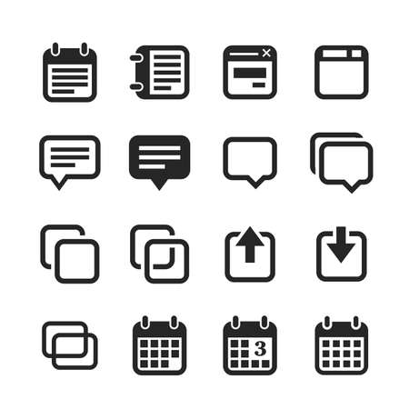 foursquare: Notes and memos icons. Raster version