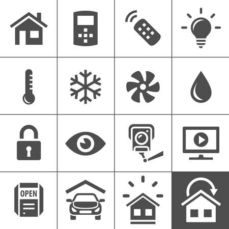 Smart Home and Smart House Icons. Vector