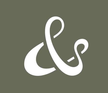 ligature: Ampersand symbol for decoration  Vector illustration