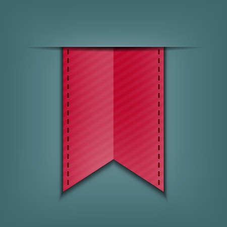 silky: Bookmark decoration ribbon  Stitched silky ribbon  Vector illustration Illustration