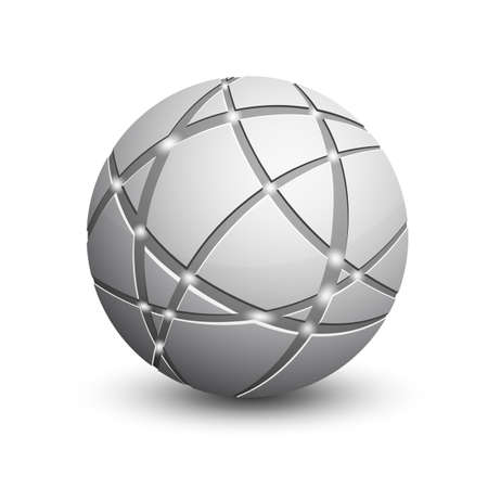 global communication: Global communication icon  Abstract globe  Communication and network concept